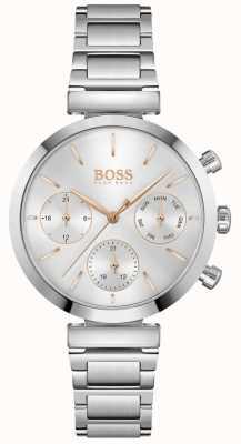 BOSS Impecable | pulsera de acero inoxidable para mujer | esfera plateada 1502530