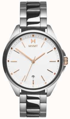 MVMT El | coronada de mujer | pulsera de acero inoxidable | esfera blanca 28000001-D