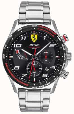 Scuderia Ferrari El | pilota evo para hombre | pulsera de acero inoxidable | esfera negra 0830720