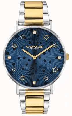 Coach El | perry de mujer | pulsera de acero en dos tonos | esfera azul estrella 14503523