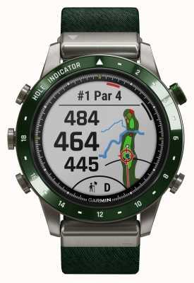 Garmin Marq golfista | correa de nylon verde y correa de goma verde pino 010-02395-00