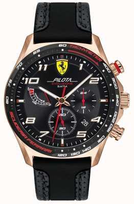 Scuderia Ferrari El | pilota de hombre | correa de cuero / silicona negra | esfera negra 0830719