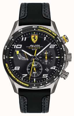 Scuderia Ferrari El | pilota de hombre | correa negra de silicona / cuero | esfera negra 0830718