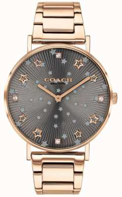 Coach El | perry de mujer | pulsera pvd oro rosa | esfera gris estrella 14503524