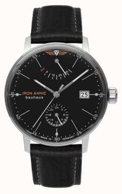 Iron Annie Bauhaus | automático | correa de cuero negro | esfera negra 5060-2
