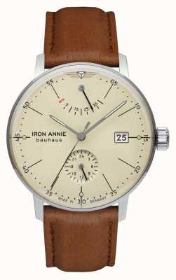 Iron Annie Bauhaus | automático | correa de cuero marrón claro | esfera de color beige 5060-5