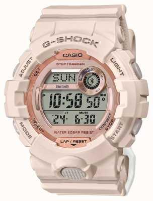 Casio G-shock | escuadra g | correa de caucho rosa | Bluetooth GMD-B800-4ER