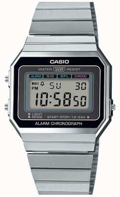 Casio Vintage | pulsera de plata | dial digital | A700WE-1AEF