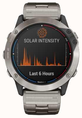 Garmin Pulsera de titanio de vidrio de energía solar Quatix 6x 010-02157-31