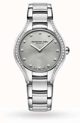 Raymond Weil Noemia de mujeres | 64 diamantes | acero inoxidable | esfera gris 5132-STS-65081