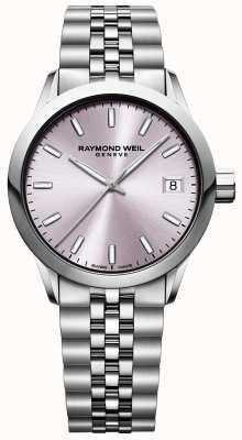 Raymond Weil Freelance de mujeres | pulsera de acero inoxidable | esfera rosa 5634-ST-80021
