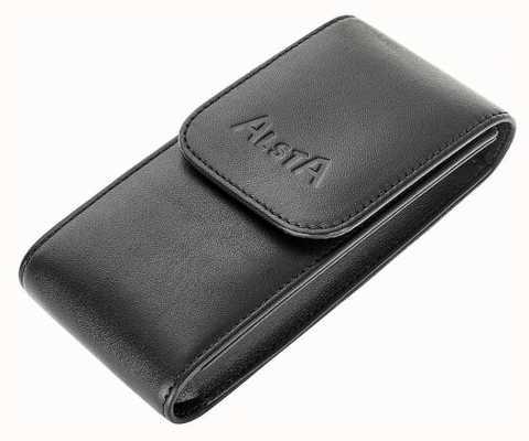 Alsta Bolsa de almacenamiento italiana de cuero negro solamente ALSTA-POUCH