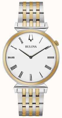 Bulova Hombres | regata | pulsera de dos tonos de acero inoxidable | 98A233