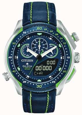 Citizen Promaster sst | hora mundial | correa de cuero azul JW0138-08L