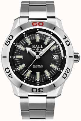 Ball Watch Company Bombero negro necc | pulsera de acero inoxidable | esfera negra DM3090A-S3J-BK