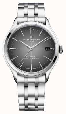Baume & Mercier Clifton baumatic | certificado cosc | esfera gris pizarra | M0A10551