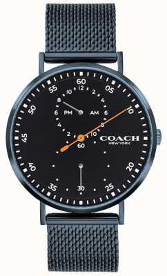 Coach Reloj de pulsera de malla azul Charles 14602478
