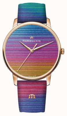 Maurice Lacroix Eliros rainbow edición limitada | correa de cuero arcoiris EL1118-PVP01-090-1