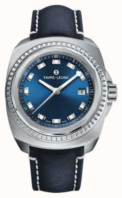 Favre Leuba Raider sea king | esfera azul | cuero de antílope azul 00.10107.08.51.46