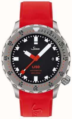 Sinn U50 | reloj de buceo rojo de silicona 1050.010 RED STRAP
