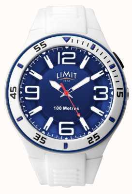 Limit Unisex | correa de goma blanca | esfera azul 5763.65