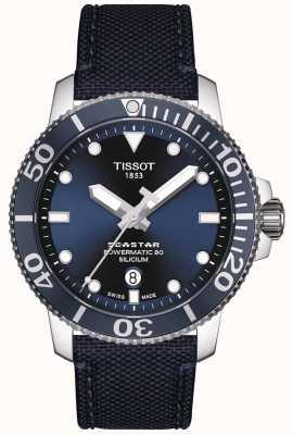 Tissot Seastar 1000 powermatic | correa de tela azul | esfera azul T1204071704101