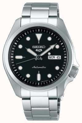 Seiko Reloj automático de 5 deportes para hombre | esfera negra SRPE55K1