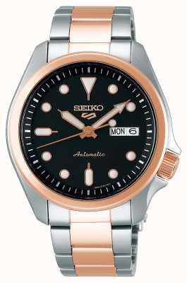 Seiko Reloj automático de 5 deportes para hombre | Dos tonos SRPE58K1