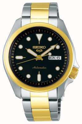 Seiko Reloj automático de 5 deportes para hombre | Dos tonos SRPE60K1