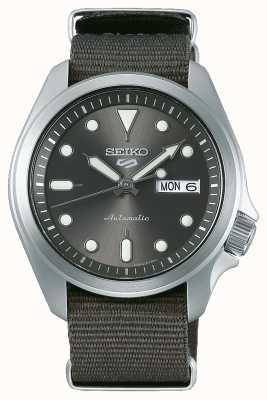 Seiko Reloj automático de 5 deportes para hombre | otan gris SRPE61K1
