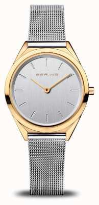 Bering Ultra delgado para mujer | pulsera de malla de plata | oro pulido 17031-010