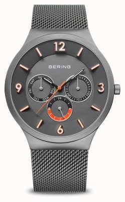 Bering Clásico de los hombres | gris cepillado | correa de malla gris | 33441-377