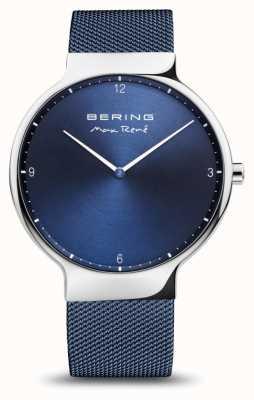 Bering Max rené | plata pulida | correa de malla azul 15540-307
