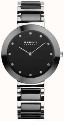 Bering Cerámica para mujer | pulsera de cerámica negra | esfera negra 11434-742