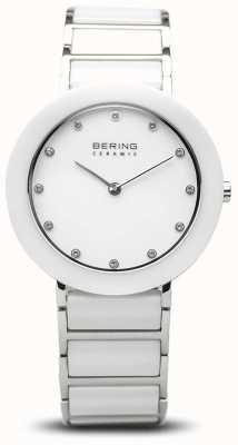 Bering Cerámica para mujer | pulsera de cerámica blanca | esfera blanca 11434-754