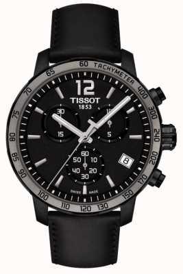 Tissot Quickster cronógrafo cuarzo cuero negro esfera negra T0954173605702