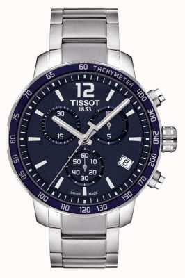 Tissot Cronógrafo Quickster con esfera azul T0954171104700