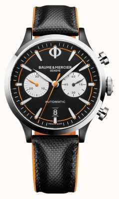 Baume & Mercier Capeland | hombres | automático | cuero negro | esfera negra M0A10451