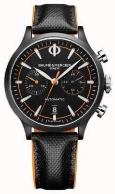 Baume & Mercier Capeland | hombres | automático | cuero negro | esfera negra M0A10452