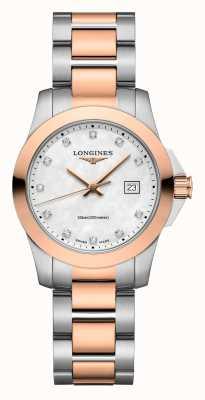 Longines El | conquista clásica | mujeres | cuarzo suizo | Dos tonos L33763887