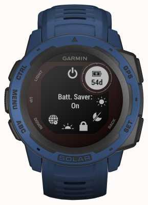 Garmin Instinct solar gps correa de caucho azul marea 010-02293-01