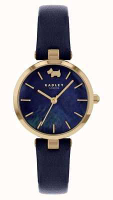 Radley Vista oeste | correa de piel azul marino | esfera azul marino RY2972