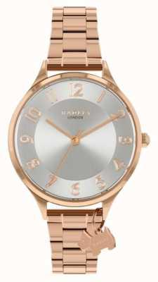 Radley Carretera sajona | pulsera de acero en oro rosa | esfera plateada RY4506