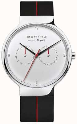 Bering Max rené | correa de caucho negro | esfera plateada 15542-404