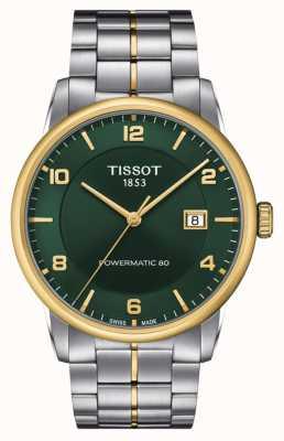 Tissot Powermatic de lujo 80 | esfera verde | pulsera de acero inoxidable T0864072209700