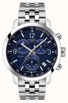 Tissot Prc 200 | cronógrafo | esfera azul | correa de acero inoxidable T1144171104700