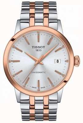Tissot Swissmatic | esfera plateada | pulsera de acero inoxidable de dos tonos T1294072203100