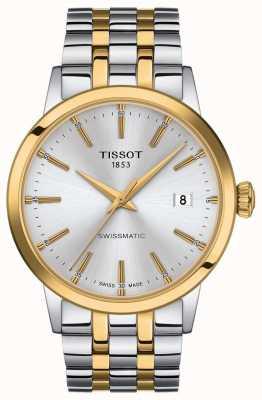 Tissot Swissmatic | pulsera de acero inoxidable de dos tonos con esfera plateada T1294072203101
