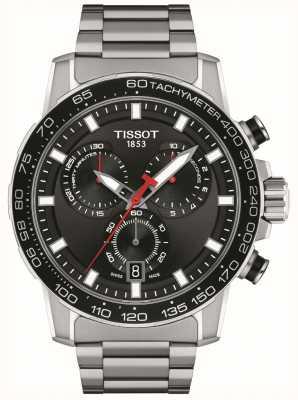 Tissot Crono Supersport | esfera negra | pulsera de acero inoxidable T1256171105100