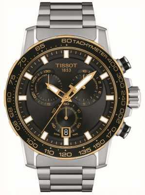 Tissot Crono Supersport | esfera negra | pulsera de acero inoxidable T1256172105100